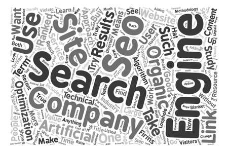 describe: Organic SEO text background word cloud concept Illustration