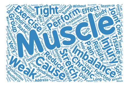 prevalent: Muscle Imbalance And Chronic Injuries Word Cloud Concept Text Background Illustration