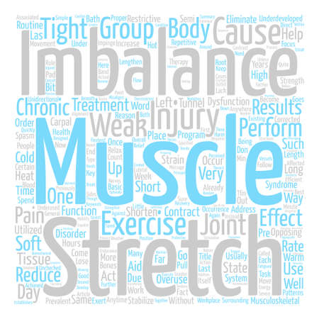 Muscle Imbalance And Chronic Injuries text background wordcloud concept