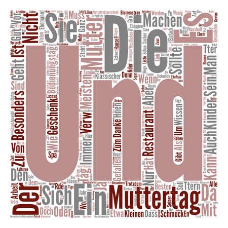 Muttertag Geschenke Ideen text background word cloud concept