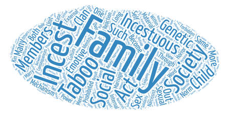incest: On the Incest Taboo text background word cloud concept