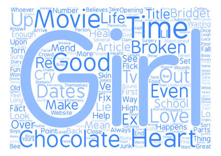 believes: Movies That Mend A Broken Heart text background word cloud concept Illustration