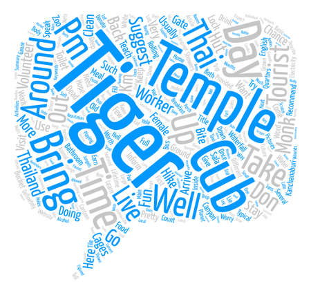 My Visit to the Tiger Temple text background word cloud concept 向量圖像
