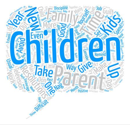 New Year s resolutions for parents text background word cloud concept Illusztráció