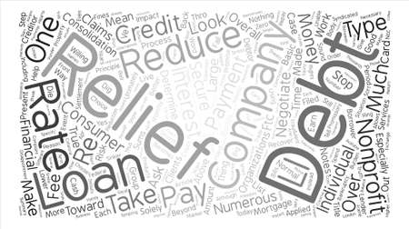 Nonprofit Debt Relief Companies text background word cloud concept Illusztráció