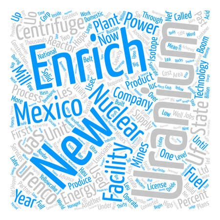 New Mexico Joins the Nuclear Renaissance text background word cloud concept