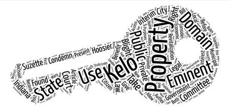 Much Ado About Kelo text background word cloud concept