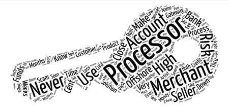 thru: Offshore High Risk Merchant Account Word Cloud Concept Text Background