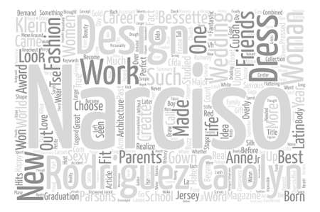 Narciso Rodriguez Word Cloud Concept Text Background