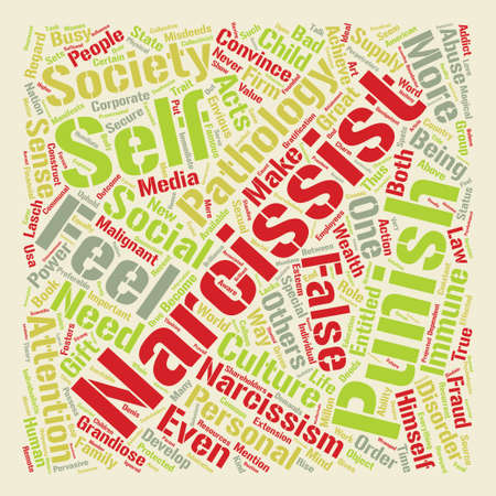 Narcissism in the Boardroom text background word cloud concept