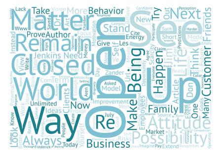 Möglichkeiten Text Hintergrund Wort Wolke Konzept. Standard-Bild - 80983577
