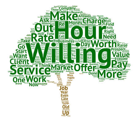 Raise Your Fees Overnight text background word cloud concept Illustration