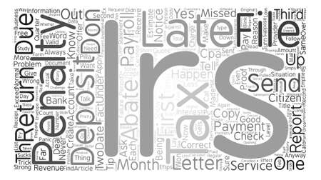 Payroll Tax Penalties When the IRS sends a Letter text background word cloud concept