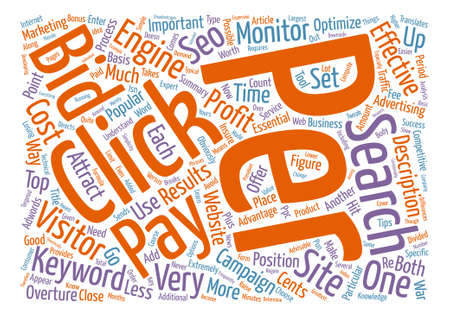 Pay Per Clicks text background word cloud concept