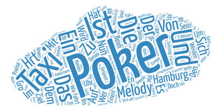 mal: Poker Taxi Word Cloud Concept Text Background