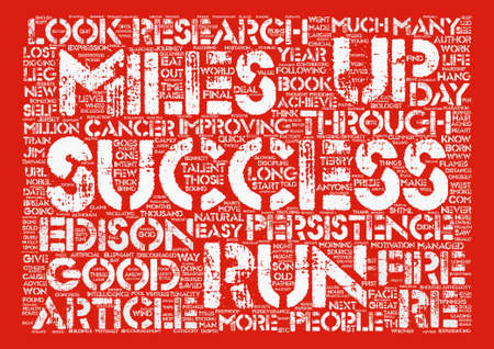 Persistence Goes the Distance text background word cloud concept