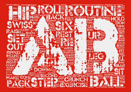 Ripped Six Pack Abs text background wordcloud concept