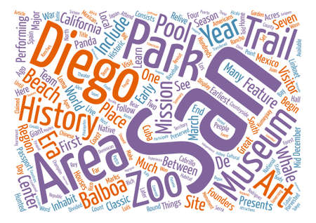 San Diego Rich In History Things To See And Do text background word cloud concept