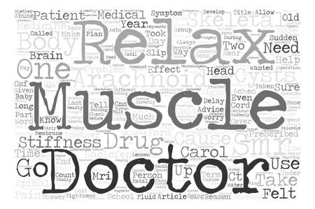 SMRs So Muscles can Relax text background wordcloud concept