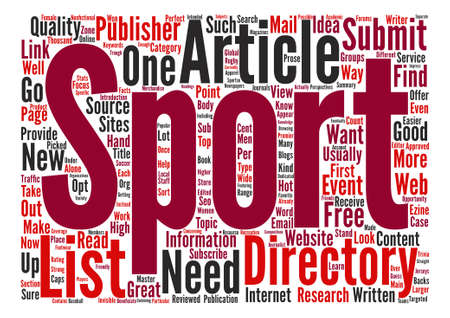 articles: Sports Articles Word Cloud Concept Text Background Illustration