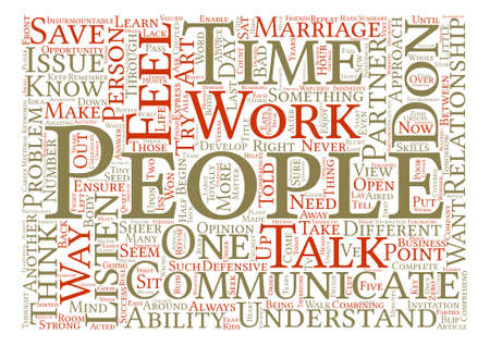 told: Save Your Marriage Communicate Word Cloud Concept Text Background