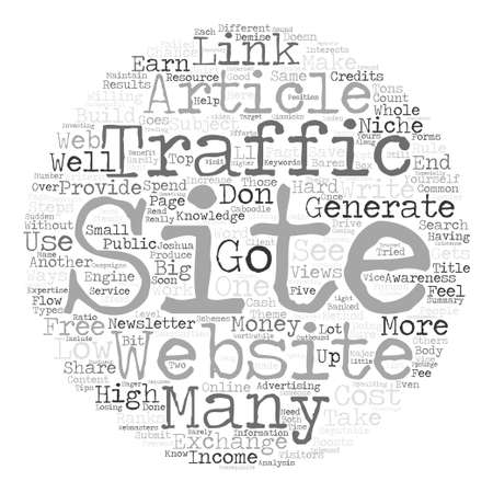 generate: Steps To Generate Low Cost Website Traffic Word Cloud Concept Text Background