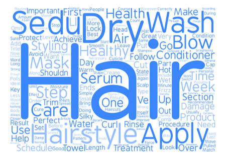 Simple Steps to Healthy Treatment of Your Hair text background wordcloud concept