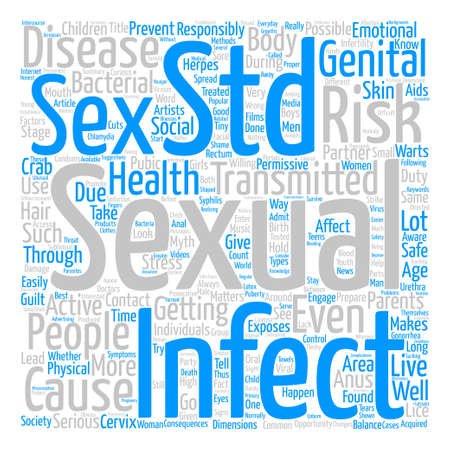 std: STD It Could Happen To You text background word cloud concept
