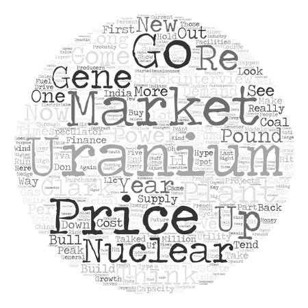uranium: Speculators Could Drive Uranium to Pound text background wordcloud concept