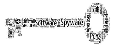 Spyware Protect Your Privacy text background wordcloud concept