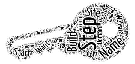 Simple Steps to Your Own Website Explained Word Cloud Concept Text Background