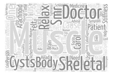 SMRs So Muscles can Relax Word Cloud Concept Text Background