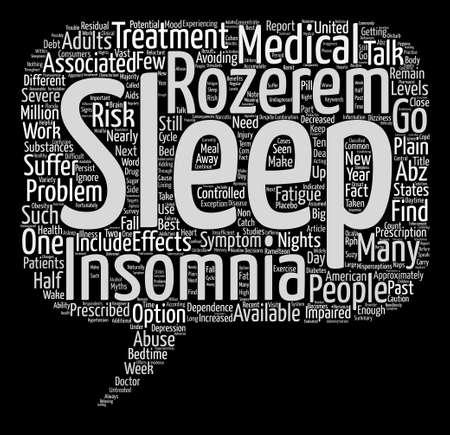 Sleep ABZ s Plain Talk About Insomnia Medications text background word cloud concept Illusztráció