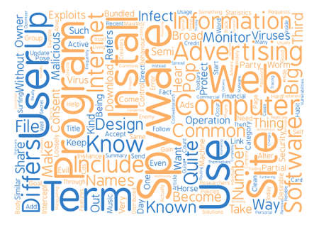 Spyware Know Your Enemy text background word cloud concept