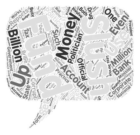 savagery: Slush funds word cloud concept text background