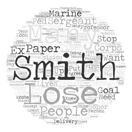 overnight delivery: Smith could see the future text background word cloud concept
