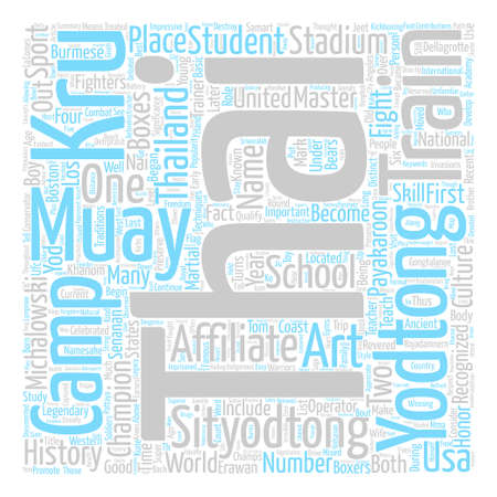 qualify: Sityodtong Muay Thai Legacy text background wordcloud concept