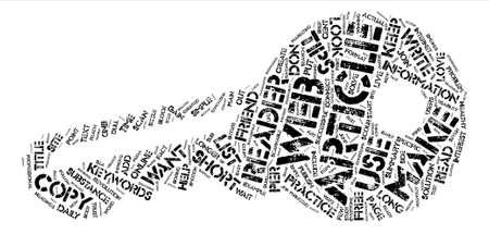 Seven Tips to Successfully Write Web Articles text background word cloud concept Illusztráció