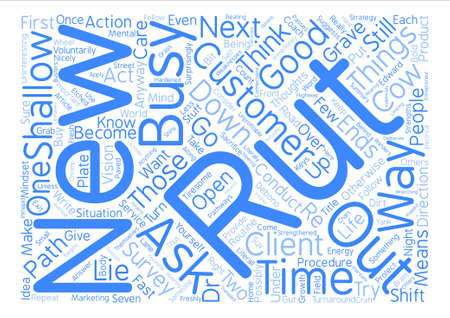 Seven Keys To Get Out Of A Rut text background wordcloud concept