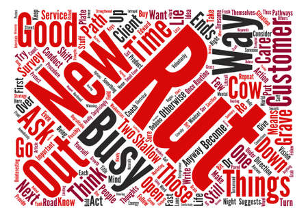 Seven Keys To Get Out Of A Rut Word Cloud Concept Text Background