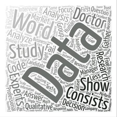 Should you trust your analyst Part I text background word cloud concept