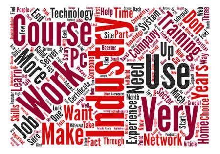 Entonces, usted quiere trabajar en el concepto de wordcloud de fondo de texto de la industria de TI Foto de archivo - 73503218