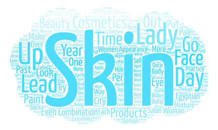 Skin Products Through the Centuries Word Cloud Concept Text Background Illustration