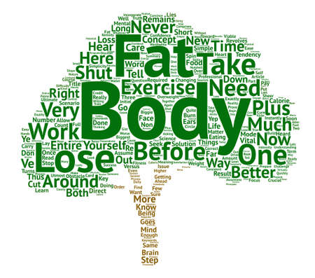 Simple Steps To Lose Body Fat text background wordcloud concept Illustration