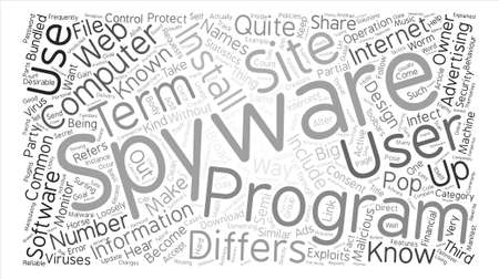 malicious software: Spyware Know Your Enemy Word Cloud Concept Text Background Illustration