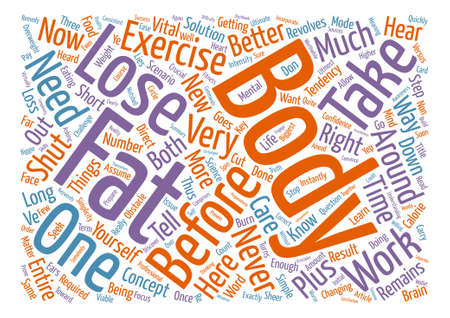 Simple Steps To Lose Body Fat text background word cloud concept