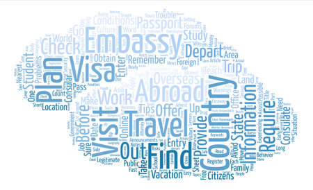 Some Travel Tips for Students text background word cloud concept