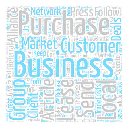 Take It To The Customer text background word cloud concept