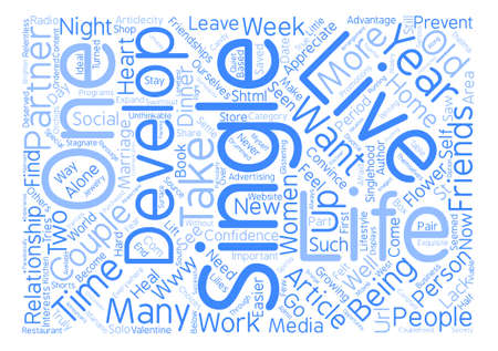 mariano: Single in a Couples World text background word cloud concept Illustration