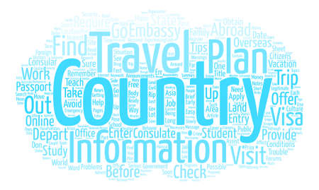 Some Travel Tips for Students Word Cloud Concept Text Background